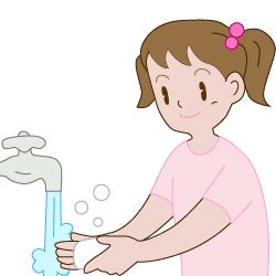 消毒と手洗い